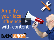 Luc durand screaming in megaphone Amplify your influence with local content