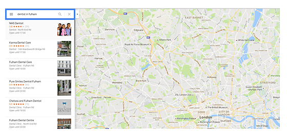 google map results
