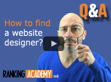 how to find a website designer banner