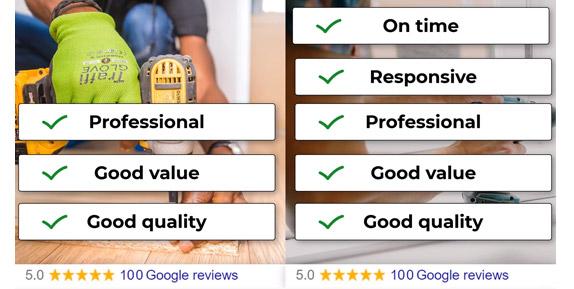 handyman google review attributes example