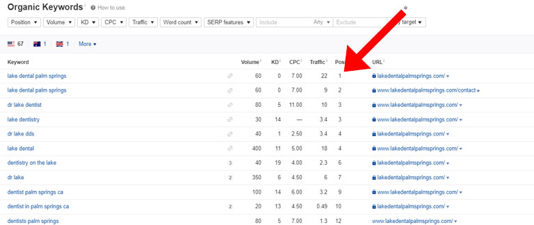 local seo rankings snapshot