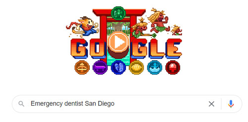 example of a local search in google