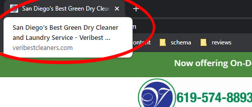 good meta title for dry cleaner website